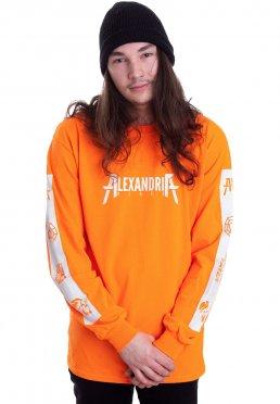 Asking Alexandria - Songlist Safety Orange - Longsleeve
