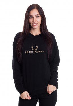 Fred Perry - Embroidered Black - Sweater