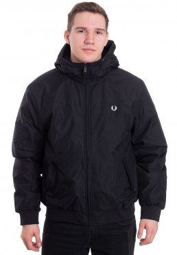 Fred Perry - Hooded Padded Brentham Black - Jacket