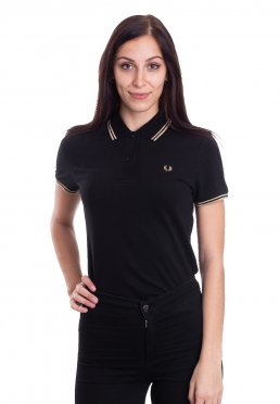 Fred Perry - Twin Tipped Black/Gold/Gold - Polo