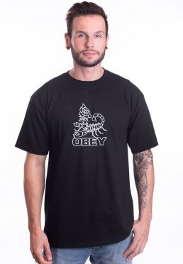 Obey - Scorpion Rose Black - T-Shirt