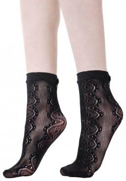 Killstar - Victoria Ankle Black - Socks