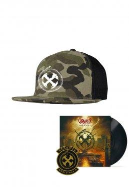91590b26 Zu Favoriten hinzfügen · Carnifex - World War X Camo/Black Trucker Vinyl  Special Pack - Cap