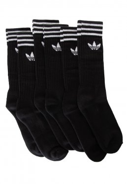 7b96e4fe38 Add to favorites · Adidas - Solid Crew 3 Pack Black White - Socks