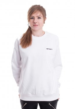 6799cf2b918 Carhartt WIP - W  Script Embroidery White Black - Sweater