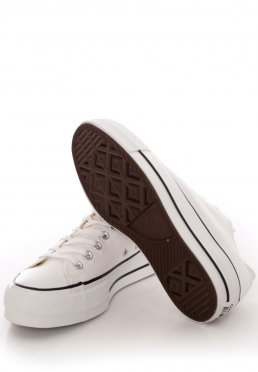 Converse Chuck Taylor All Star SP Ox Monochrome WhiteWhiteSilver Girl Shoes