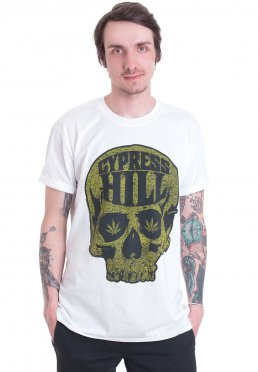 Official Cypress Hill Skull Logo T-Shirt Skull And Bones Black Sunday Rise Up