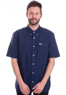c651e2ea371 Fred Perry - Short Sleeved Oxford French Navy - Shirt