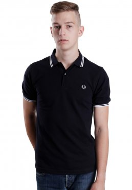 Lisää toivelistaan · Fred Perry - Slim Fit Twin Tipped Navy White - Polo 45de4911a5