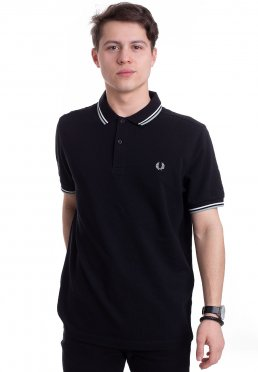 a62f7861 ... Fred Perry - Twin Tipped Black/Snow White/Mint - Polo
