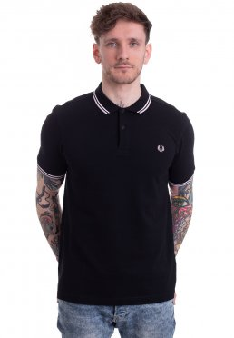 45326cffb27c Adicionar aos Favoritos · Fred Perry - Twin Tipped Black/Snow White/Silver  Pink - Polo