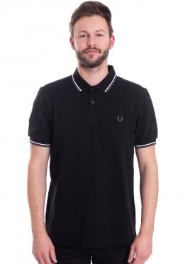 048300f8 ... Fred Perry - Twin Tipped Black/White/Iced Slate - Polo