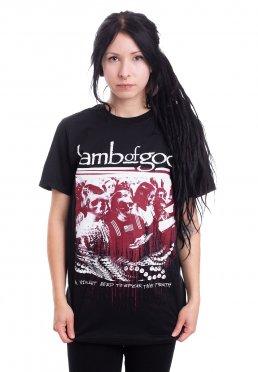 Black Lamb of God Coffin Kopia T-Shirt