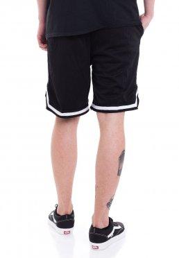 Logo White Striped Zip Oceano Shorts