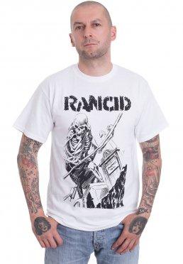 aa3f07360 Add to favorites · Rancid - Skeleton Grave White - T-Shirt