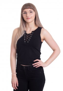 b9983c12abb Add to favorites · Urban Classics - Lace Up Cropped Black - Top