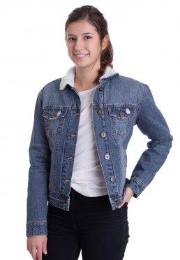 884c94512e7e02 Zu Favoriten hinzfügen · Urban Classics - Sherpa Denim Blue Washed - Jeans  Jacket
