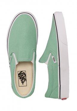 Vans - Classic Slip-On Neptune Green True White - Girl Schuhe fbd5137bc