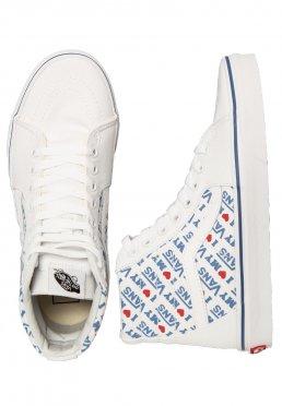 3b593d22de Add to favorites · Vans - SK8-Hi I Heart Vans True White - Girl Shoes