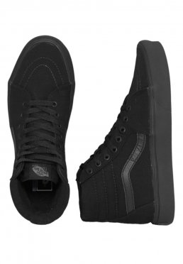Vans - Sk8-Hi Lite Canvas Black Black - Girl Schuhe 9d96ebde3