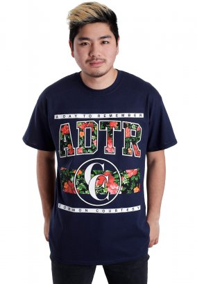 A Day To Remember - Floral Navy - Camiseta