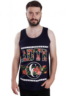 A Day To Remember - Floral Navy - Linne