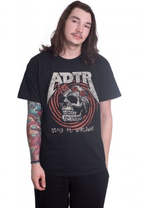 A Day To Remember - Flower Skull - T-paita