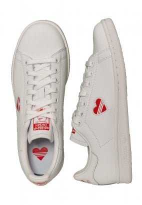 Adidas - Stan Smith W Ftwr White/Act Red/Ftwr White - Girl Shoes