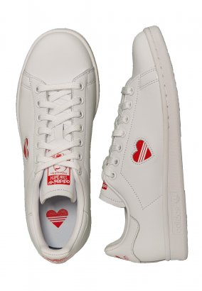 Adidas - Stan Smith W Ftwr White/Act Red/Ftwr White - Skor för tjejer