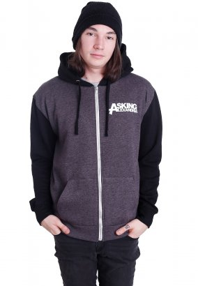 Asking Alexandria - Eagle Charcoal/Black - Zipper