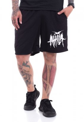Attila - Scratched Logo Zip - Shorts