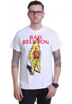 Bad Religion - Boy On Fire White - T-Shirt