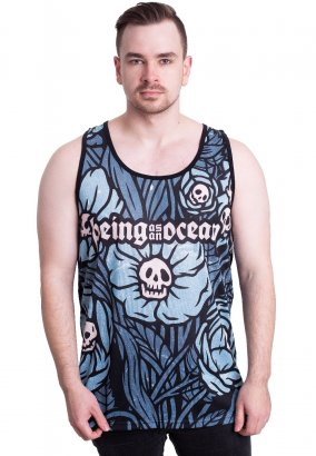 Being As An Ocean - Skull Flowers Allover - Tank