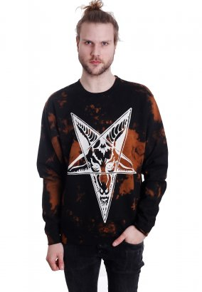 Black Craft Cult - Baphomet Bleach Wash - Felpa
