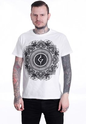 Caliban - Mandala Skulls White - T-Shirt