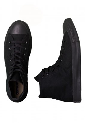 Converse - Chuck Taylor All Star Hi Black Monochrome - Schuhe