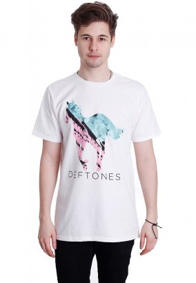 Deftones - Pony Fill White - T-Shirt