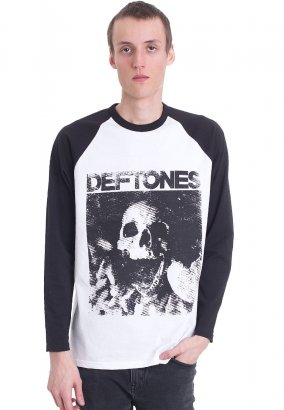 Deftones - Skull White/Black - Manga larga
