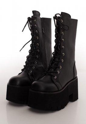 Demonia - Ashes 105 Chunky Heel Black - Girl Schuhe