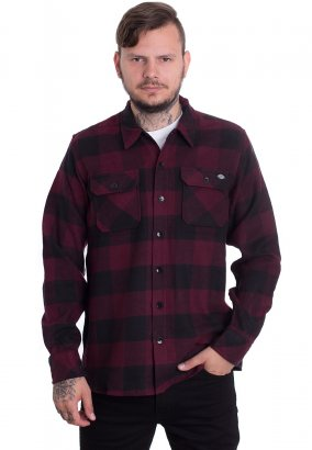 Dickies - Sacramento L/S Maroon - Overhemd