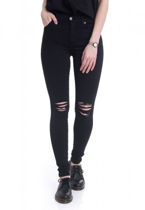 Dr. Denim - Lexy Black Ripped Knees - Jeans