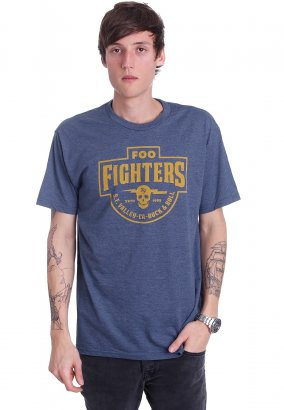 Foo Fighters - S.F. Valley Heather Navy - T-Shirt