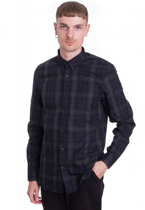 Fred Perry - Contrast Stripe Tartan Navy - Overhemd