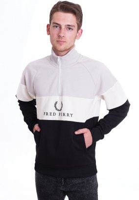 Fred Perry - Embroidered Panel Black - Sweater