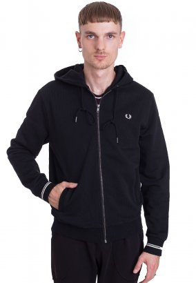 Fred Perry - Hooded Black - Sweat Zippé
