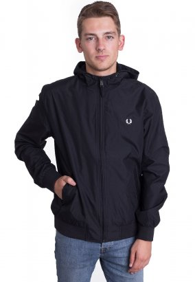 Fred Perry - Hooded Brentham Black - Jacke