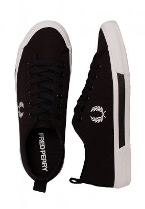 Fred Perry - Horton Canvas Black/White - Schoenen