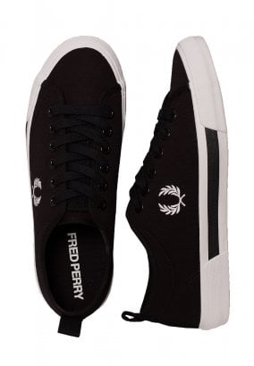 Fred Perry - Horton Canvas Black/White - Schuhe