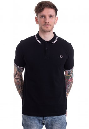 Fred Perry - Twin Tipped Black/Snow White/Silver Pink - Polo