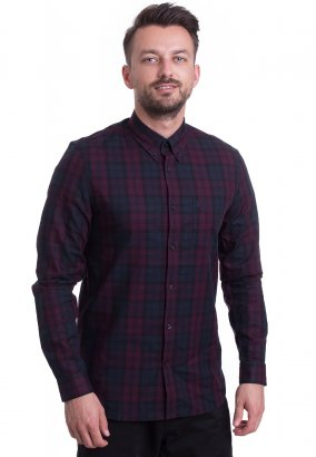 Fred Perry - Winter Tartan Mahogany - Hemd